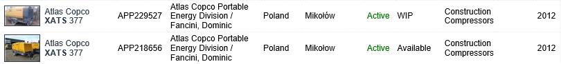 XATS 377های دسته دوی موجود در کشور لهستان، آمادهی واردات