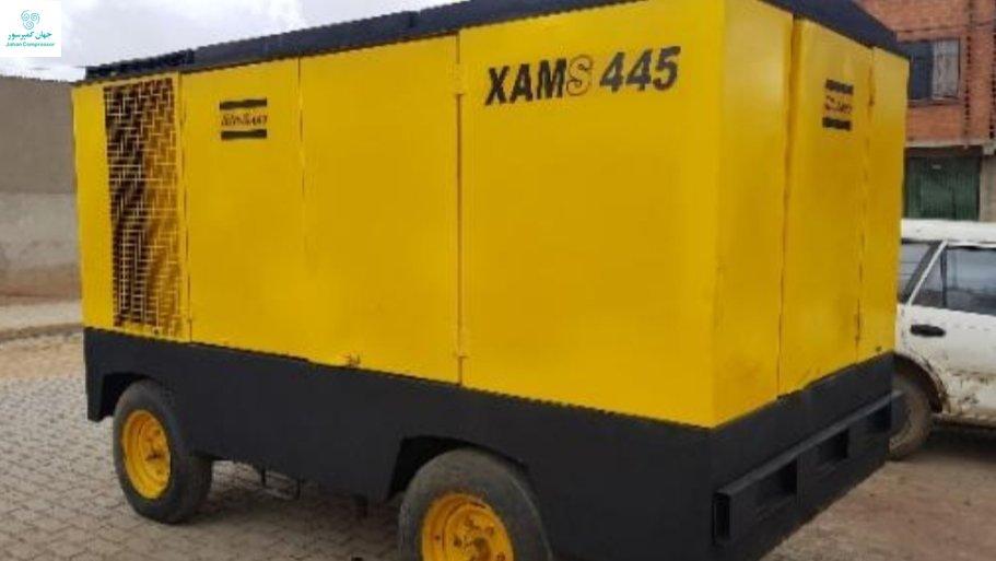 کمپرسور اسکرو دیزل XAMS 445 کمپرسوری جان سخت برای شرایط آب و هوایی مختلف و در صورت نیاز تحرک زیاد است.